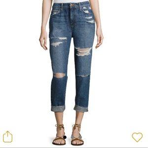 Joes Jeans Debbie Crop High Rise Distressed Denim